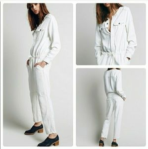 Free People castaway herringbone coverall